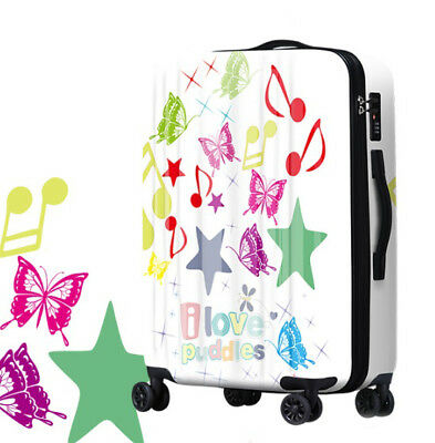 A229 Fashion Coded Lock Universal Wheel Travel Suitcase Luggage 20 Inches W