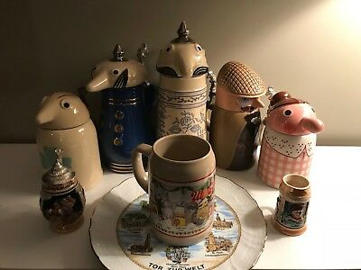 German Steins, Set Utica Club, Collectibles, With German Plate