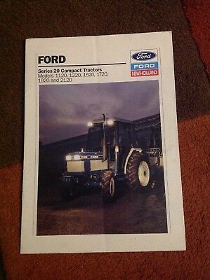 Ford Series 20 tractors brochure 1990, (Models 1120 to 2120)