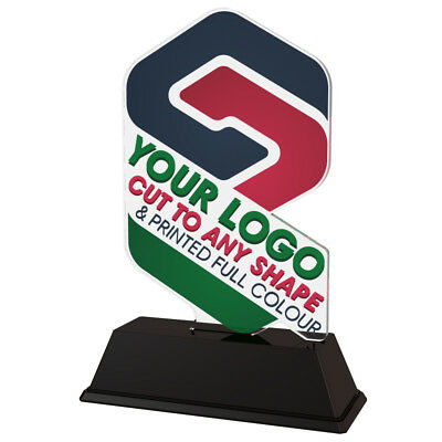 15x YOUR LOGO CUSTOM TROPHY PACK *FREE ENGRAVING* 100mm ANY SHAPE *EXCLUSIVE*