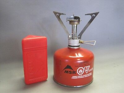 Pocket Rocket Stove >> Msr Pocket Rocket Ultra Light Backpacking Stove W Canister Case Vgc