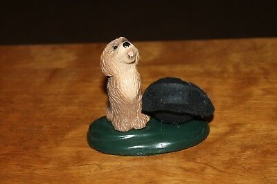 Byers' Choice Ltd. - The Carolers - Brown and Black Dog Begging with Hat 1996