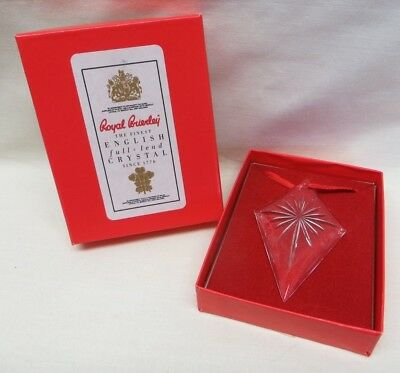 ROYAL BRIERLEY Full Lead Crystal PENDANT STAR, 5107, Cut, comes boxed