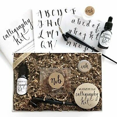 Calligraphy Starter Kit Beginner Calligraphy DIY Lettering Set Oblique Pen & Nib