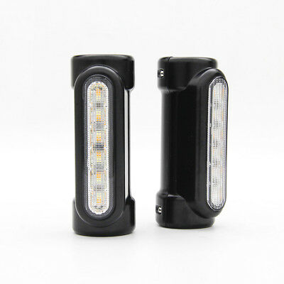 Motorcycle 1.25'' Fork Tube Amber White Turn Signal Lights for Harley Victory