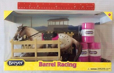 Breyer Classic Barrel Racing Set 1:12 Scale, Appaloosa, Tack, Barrels 61089 NEW