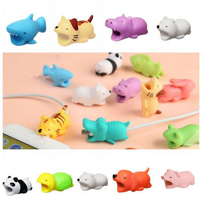 Lot Silicone Animal Cable Protector for iPhone Android Cell Phone Cord Charger