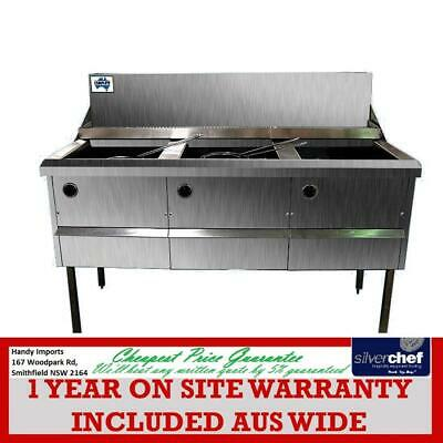 Gas Fish and Chips Fryer Three Fryer - WFS-3/18