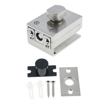High Quality, Glass Door Latches Lock/Bolt,10mm Glass, No Drilling,Bathroom