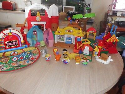 Bulk Fisher Price Little People Buildings train etc  good condition