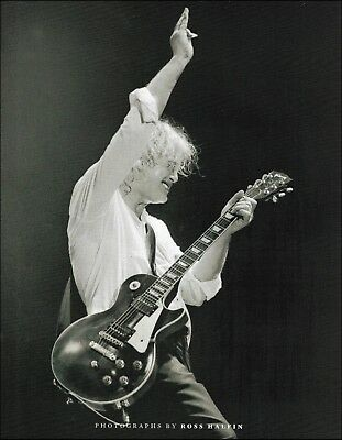 Jimmy Page with Gibson Les Paul Deluxe guitar 8 x 11 b/w pin-up photo print