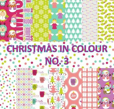 CHRISTMAS IN COLOUR 3 SCRAPBOOK PAPER - 14 x A4 pages