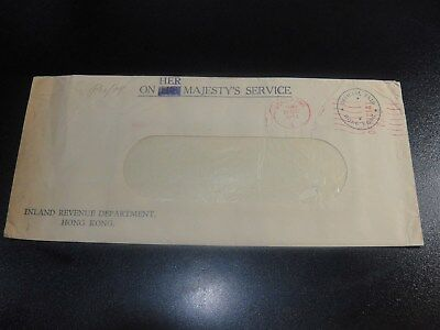 Hong Kong 1952 Postage Paid Cover to Local #7