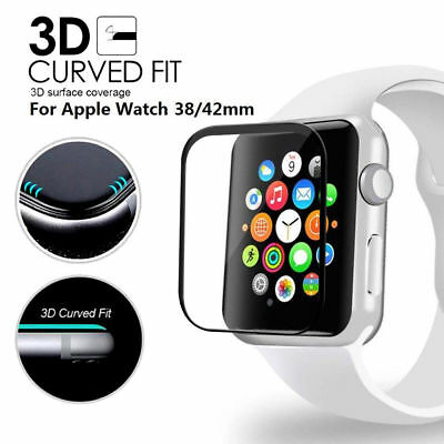 100% 3D Curved Tempered Glass Screen Protector For 44 mm Apple Watch Series 4 Ⅳ