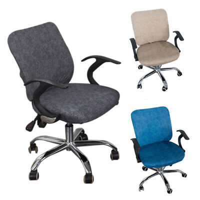 Computer Desk Office Chair Split Seat Stretch Cotton Cover Solid Color Dustproof