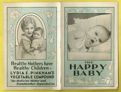 1900 Adv Book THE HAPPY BABY PINKHAM'S QUACK MEDICAL CURES CARE OF BABY & MOM