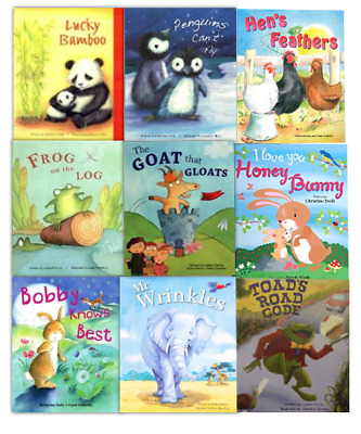 Alligator 9 Book Set Flat Picture Books Collection Inc Frog On The Log, Mr Wrink