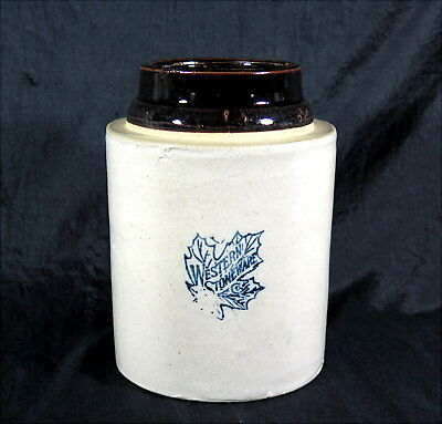 "Antique Western Stoneware Co. Crock Without Lid Monmouth, Illinois 7 3/4"" Tall"