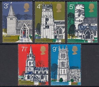 1972  Village Churches  Set  Sg 904 - 908   Unmounted Mint