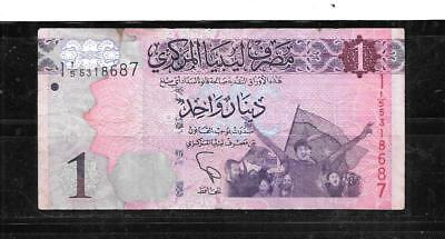 Libya #76 2013 Vg Circ Dinar  Banknote Paper Money Currency Bill Note