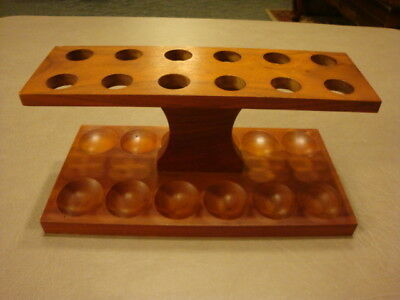 Vintage Wood Wooden Smoking Tobacco PIPE STAND HOLDER Rack For 12 Pipes