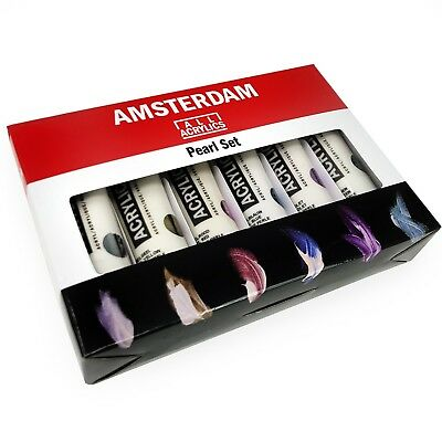 Royal Talens - Amsterdam All Acrylic Paints - 6 x 20ml Tubes - Pearl Set