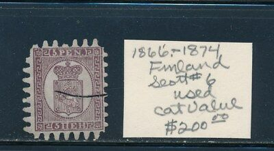 Own Part Of Finland Stamp History 1 Issue Cat $200.00  Shown