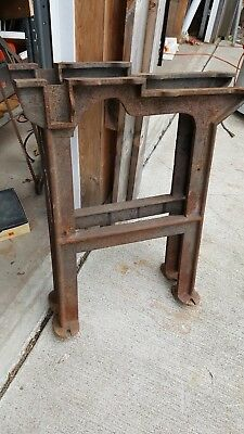 Vtg. Cast Iron Industrial Machine Table Legs  DiningTable Workbench etc.