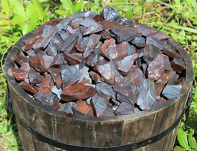 Bulk 1 lb Lot of Natural Rough Hematite (Raw Rocks Cabbing Crystals, 16 oz)