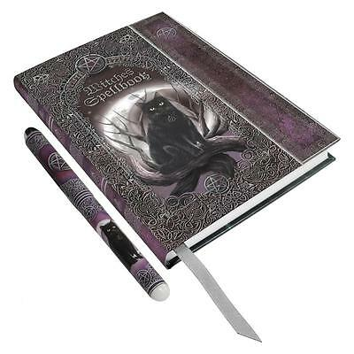 Black Cat Witches Spellbook Book of Shadows, Journal, Diary with Matching Pen!