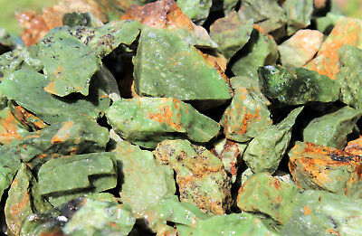 2 lb Bulk Wholesale Lot of Natural Rough Chrysoprase Crystals (Raw Rock Mineral)