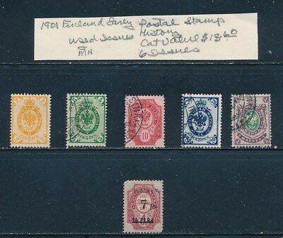 Own Part Of Finland Stamp History 6 Issues Cat $18.60  Shown
