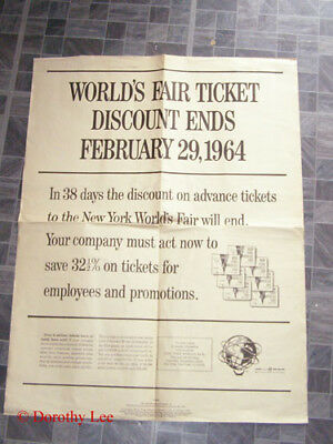 1964 New York World's Fair Ticket Discount Poster