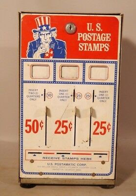 Patriotic UNCLE SAM US Postage Stamp COIN OPERATED Vending Machine NICE GRAPHICS