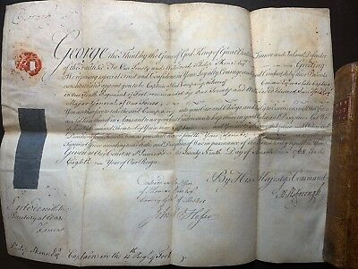 KING GEORGE III. Signed Military Commission for Philip Skene, 1768