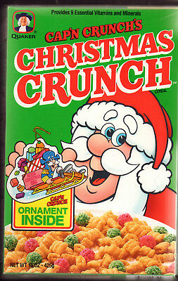 UNOPENED NM 1988 CAP'n CRUNCH CHRISTMAS CEREAL W/ CHRISTMAS ORNAMENT INSIDE
