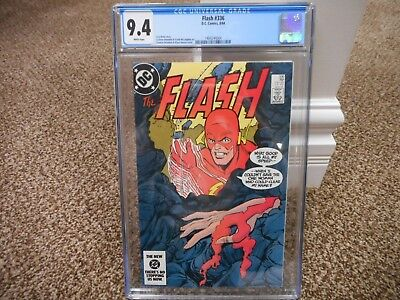 Flash 336 cgc 9.4 BLACK cover DC 1984 NM M WHITE pgs TV JLA movie 1st series