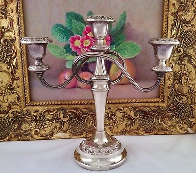 Fine Quality IAN HEATH Antique Georgian Style Repousse Silver Plated Candelabra