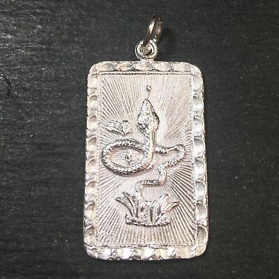 """Medium Size New 925 silver Reversible Design Chinese character writing """"Lucky"""""""