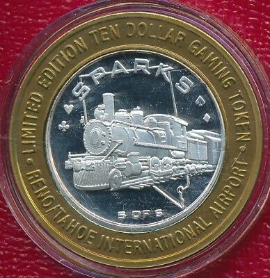 2003 Reno International Airport $10 Silver Strike **sparks #5 Of 5** Collectible