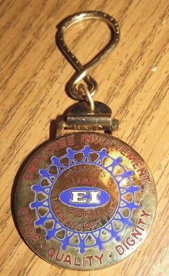 Vintage Ford Assembly Plant Lorain, OH Employee Involvement Keychain - Ohio