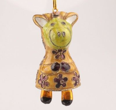 Vintage Cloisonne Statue Pendant Hippo Old Handmade Christmas Decoration Gifts