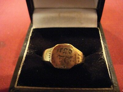 Ancient Byzantine / Medieval Ring With Lettering--Detector Find