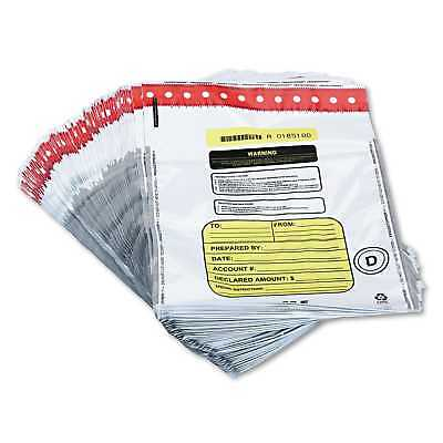 MMF Industries Tamper-Evident Deposit/Cash Bags Plastic 12 x 16 White 100
