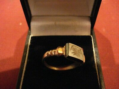Ancient Roman Bronze Ring With New Stone--Detector Find