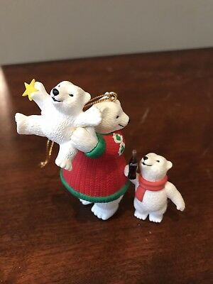 Coca Cola Collection Coke Polar Bears Ornament 1996