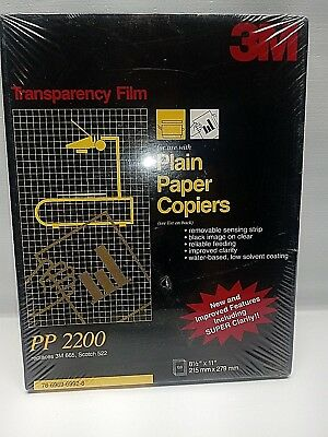 "3M Transparency Film For Copiers 100 Sheets 8.5"" x 11"" PP2200 Factory Sealed"