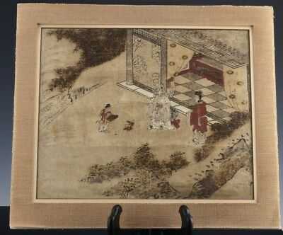 Early Korean Or Japanese Painting Of Tiger Baiting Feeding Training Ming Dynasty