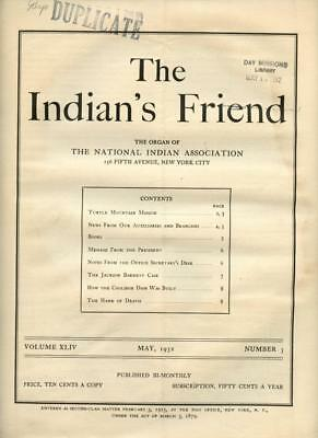 May 1932 The Indian's Friend Magazine Newspaper National Indian Association NYC