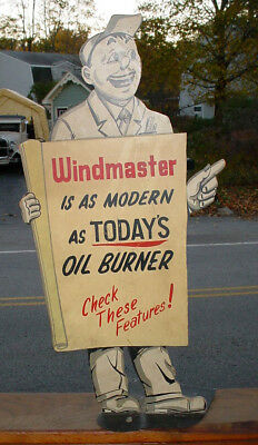Rare Antique Windmaster Is As Modern As Today's Oil Burner Advertising Display